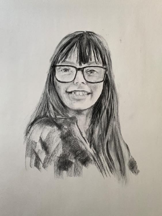 Emily in glasses
