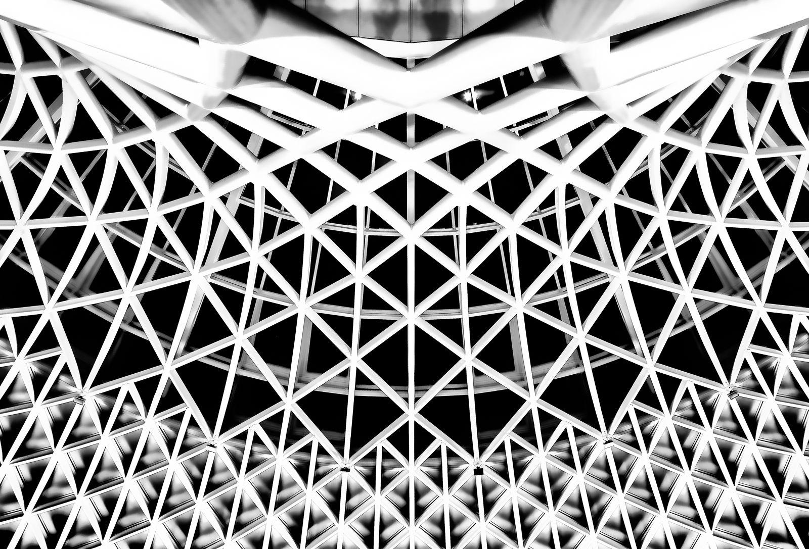 Kings Cross Station Ceiling, London, UK