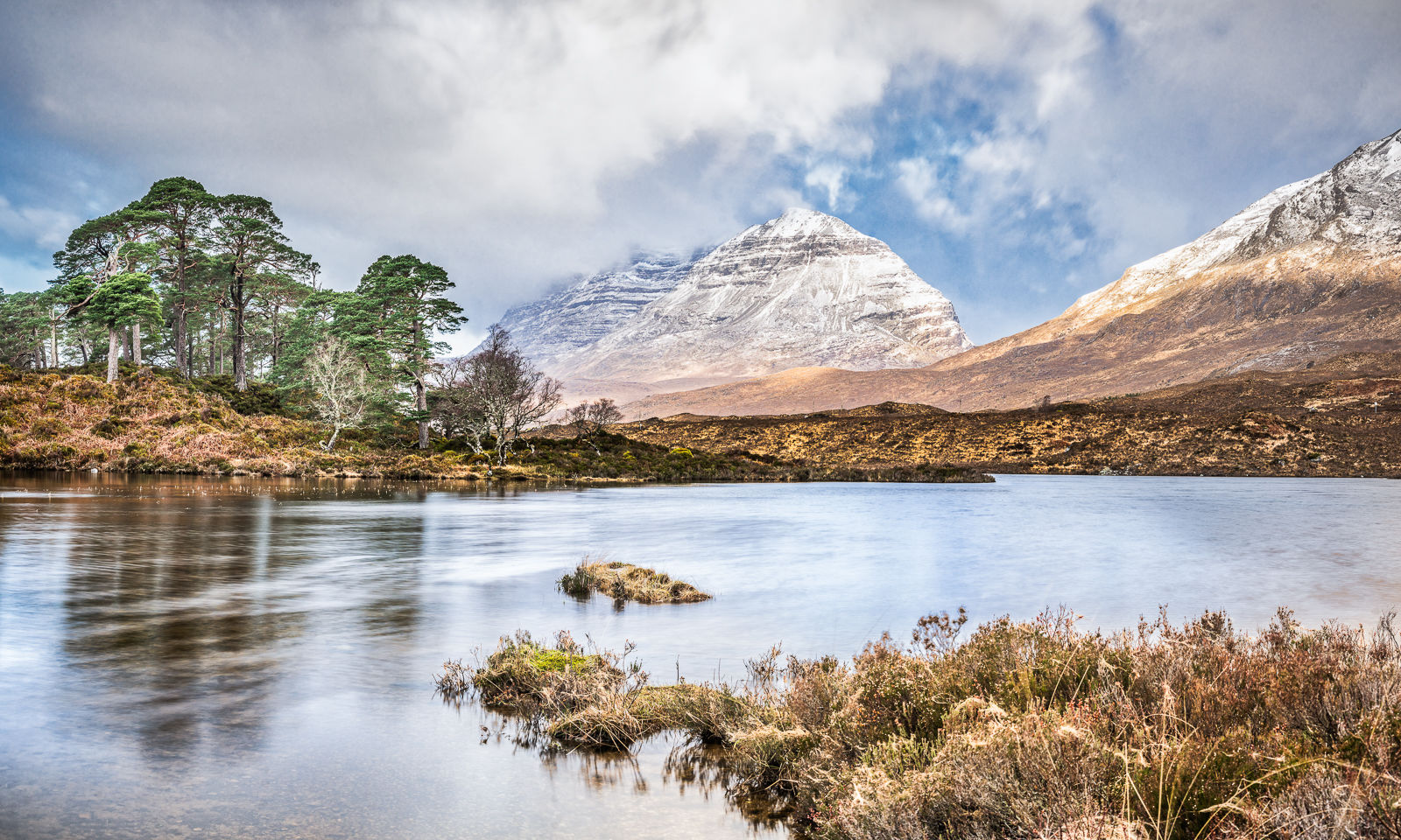 Mighty Liathach from Loch Clair