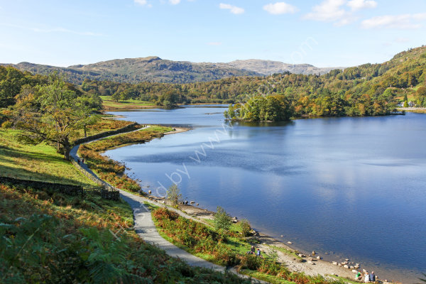 Rydal Water in the English Lake District National Park Cumbria England UK