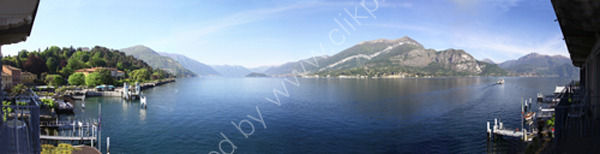 Panorama of Bellagio Lake Como Italy