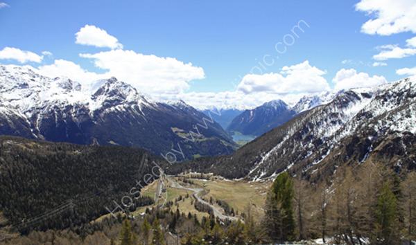 Swiss Alps from the Bernina Express train