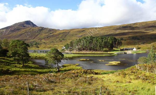 Lodge at Loch Affric Scotland