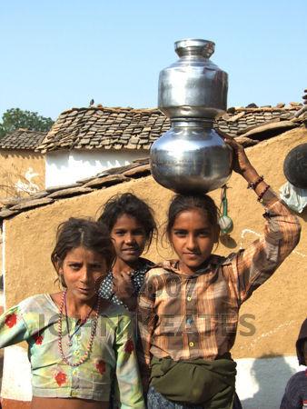 Young village children