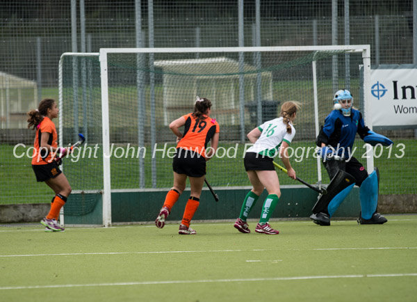 Leicester ladies score their second goal against Canterbury