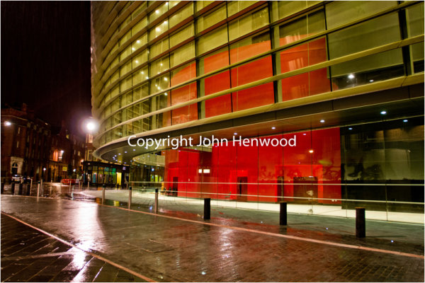 Leicester's Curve Theatre at night