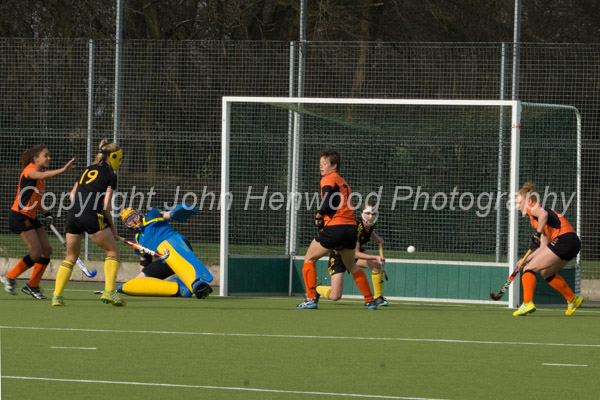 Kerry Whitehead scores Leicester's first goal