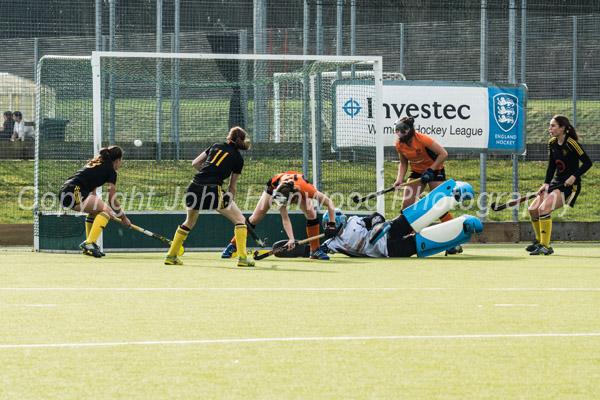 Nikki Ward scores the first goal for Beeston