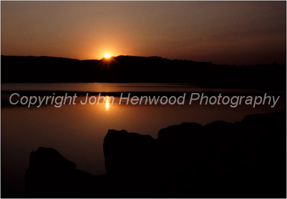 Sunset over Cropston Reservoir