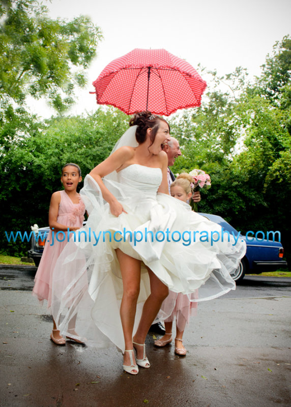 Wedding Photography in the rain