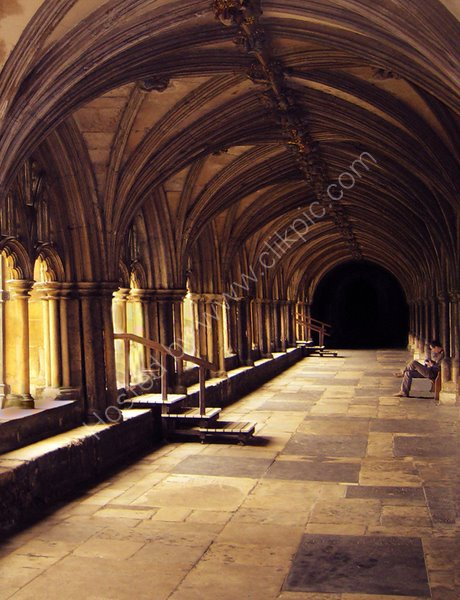 A quiet time in the Cloisters