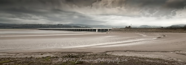Arnside Bay and railway bridge