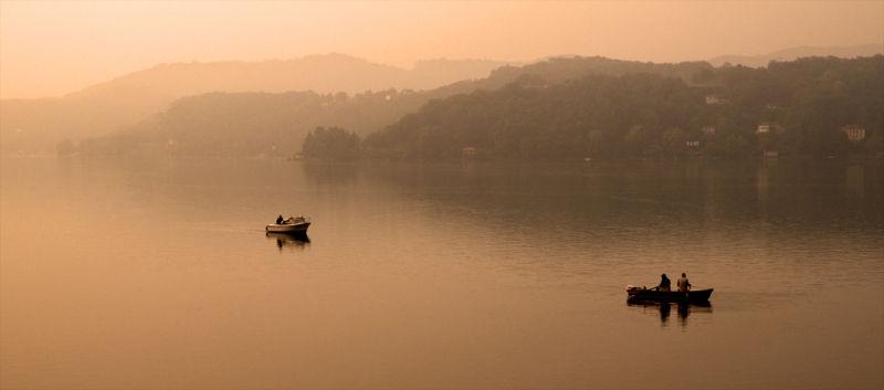Early morning fishing, Lake Orta