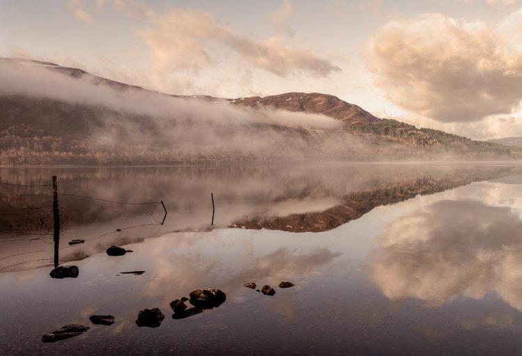 Mist over Loch Rannoch