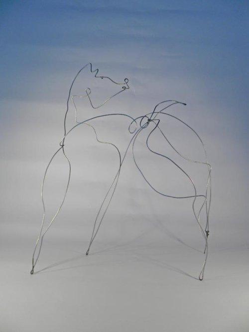 sketch on blue