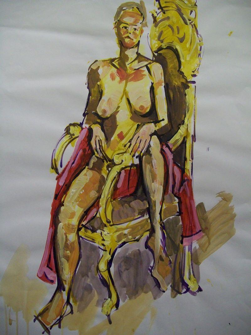 Acrylic on paper.