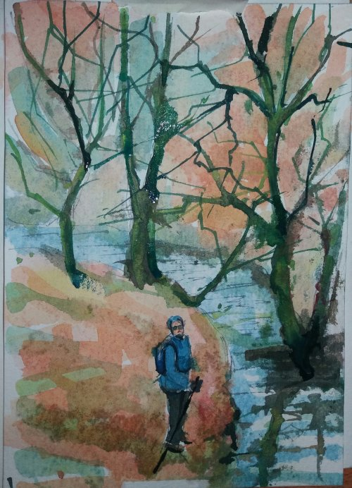 Watercolour.Hathersage.