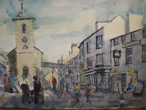 Watercolour,Keswick,Cumbria.