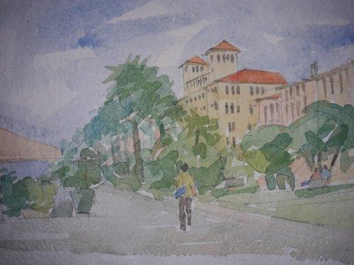 Watercolour,Viareggio, Italy.