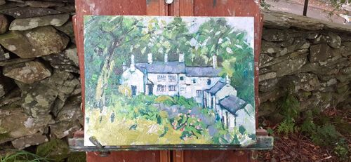 Townend,Troutbeck Cumbria, oll on canvas.