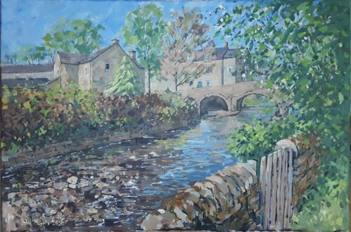 Baslow old bridge
