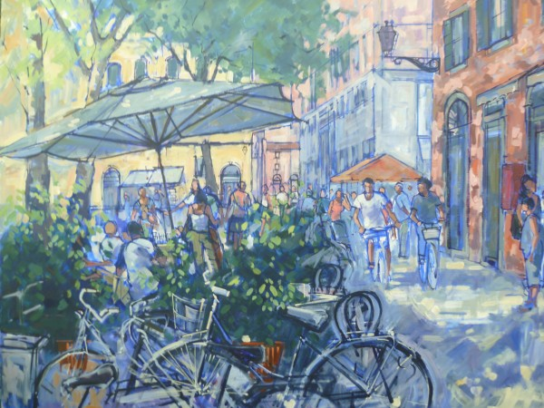 Sold Lucca acrylic on canvas 100cm x 80cm Price £220