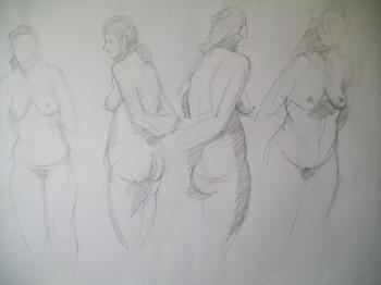 5 min pencil sketches