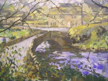 SOLD.Alport Bridge,Derbyshire.70 x 60 cms