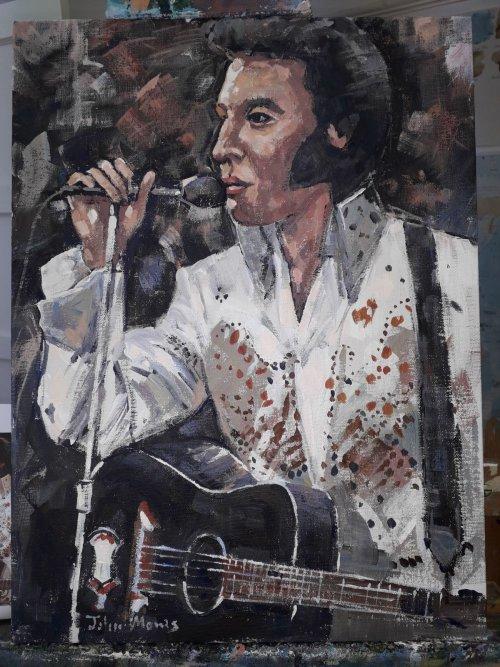 SOLD Acrylic. Elvis