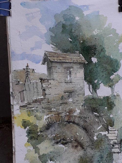 Watercolour,cottage in Ambleside,Cumbria.
