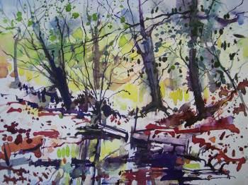 SOLD. Watercolour,Moss Valley.