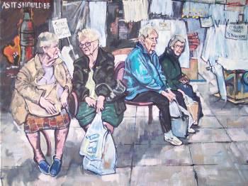 SOLD. Taking a break Sheffeild Castle Market