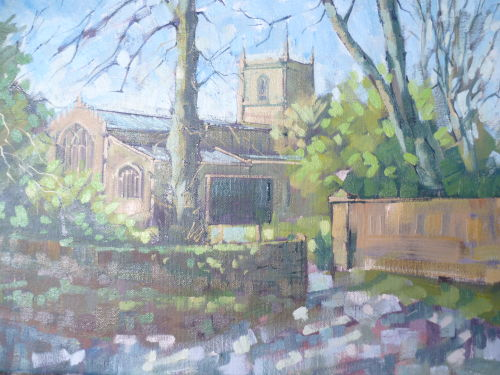 SOLD Framed £80.Norton Church,Sheffield
