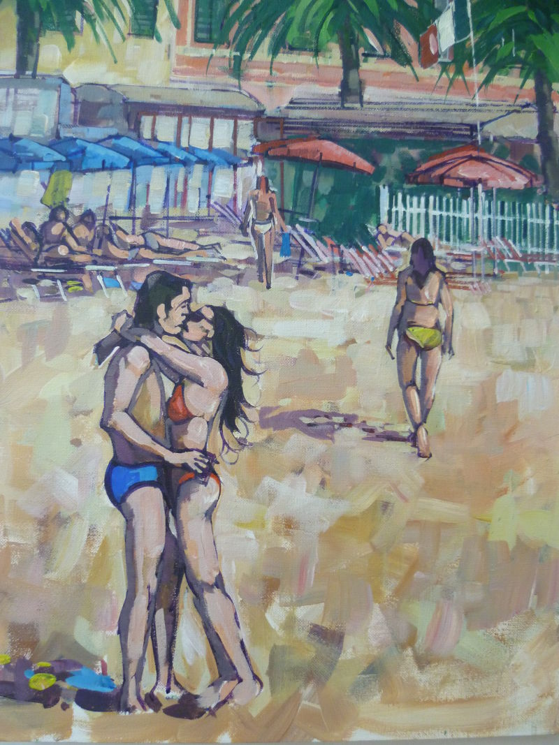 SOLD A kiss on the beach Price £95