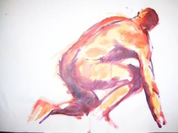male nude acrylic