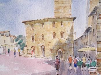 Piazza del Duomo.San Gimignano,Tuscany,Italy.