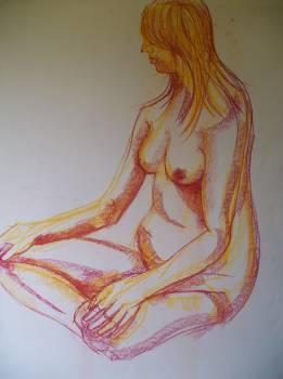 !/2 hour sketch using pastel broad marks.