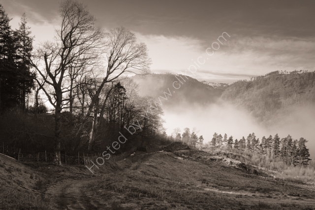 Mist rising over Thirlmere
