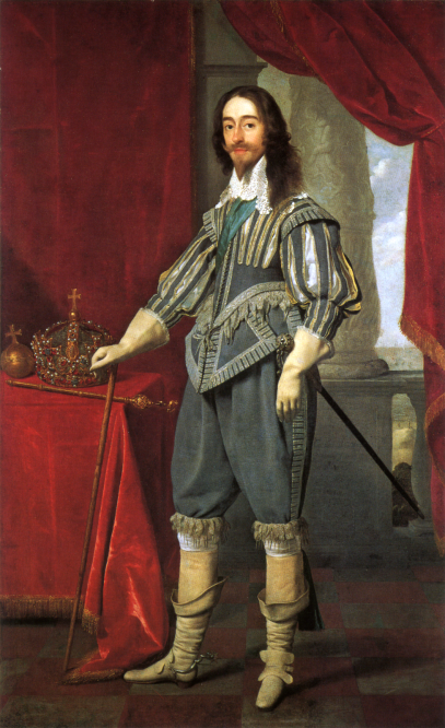 Charles I alongside the Tudor State Crown