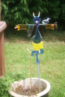 blue devil scarecrow (small)                                          SOLD