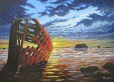 EBB TIDE AND SHIPWRECK (for sale £200)