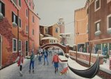 Icebound Venice - With Skaters (for sale £260)