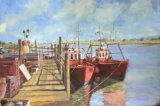 Fishing Boats, Southwold Harbour (Oil Painting)