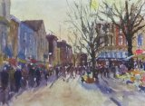 Norwich Market (Watercolour)