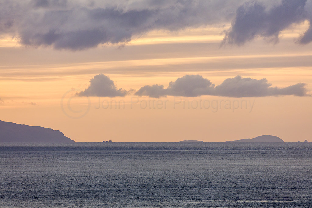0042 Sanda Island & Mull of Kintyre from County Antrim Northern Ireland