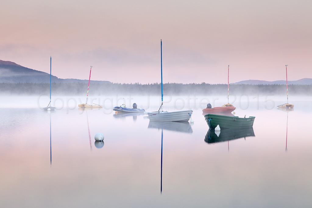 1228 Pastel Dawn Loch Morlich Cairngorms