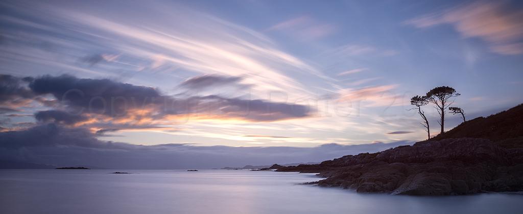 8051 - Camusdarach Sunset Panorama