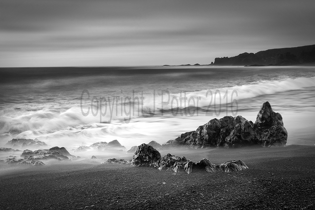 9022 Black beach at Dritvic snaefellsness peninsula Iceland