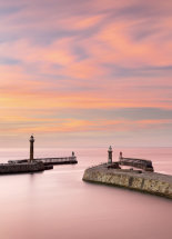 9940 Sunset Afterglow Whitby Piers