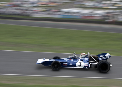 Jackie Stewart driving the 1971 Tyrell 001